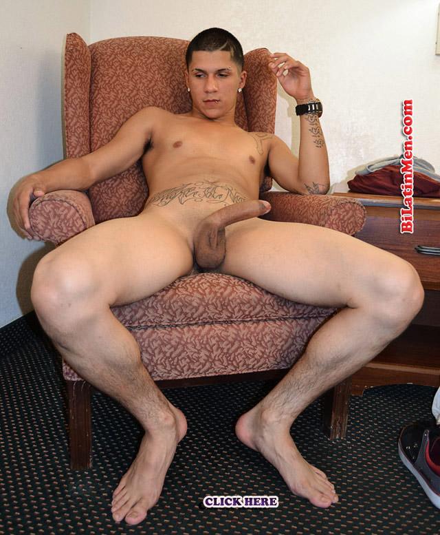 .com presents presents M, Pierced masculine Latino with a big dick